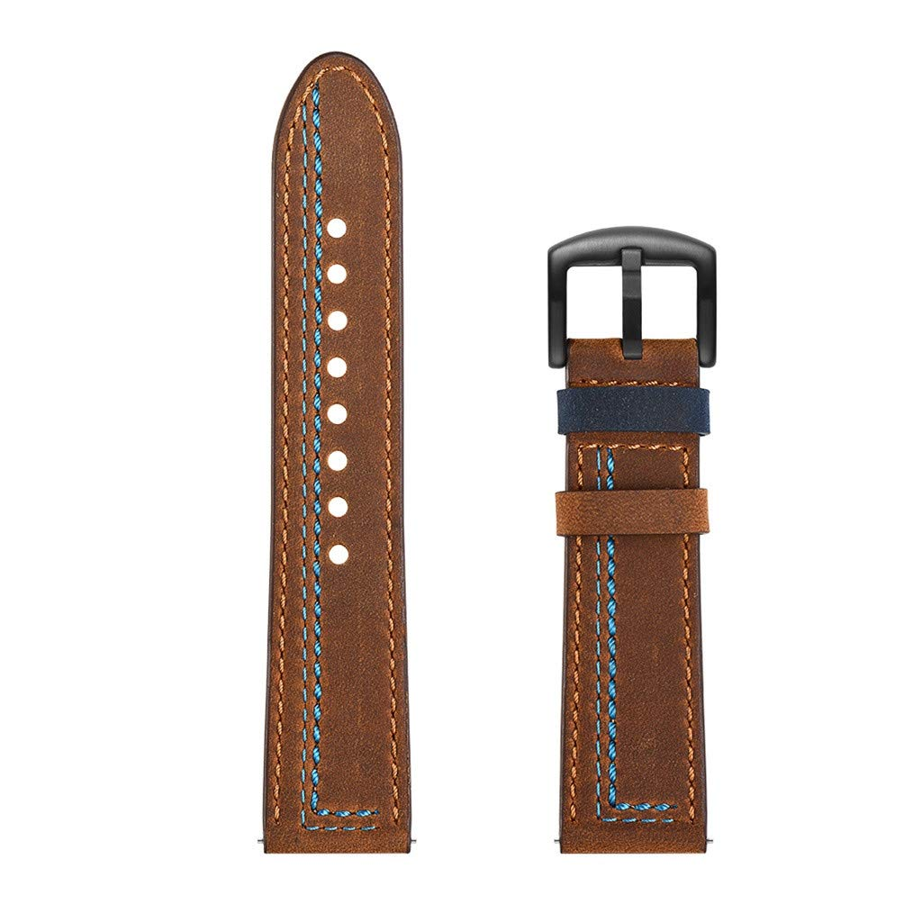Molyveva Consumer Electronics Fashion Replacement Leather Watch Band Wrist Strap for Huawei Watch GT 22mm