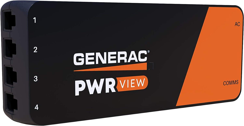 Generac W2HEM GNRC PWRview Monitor, Black, Orange