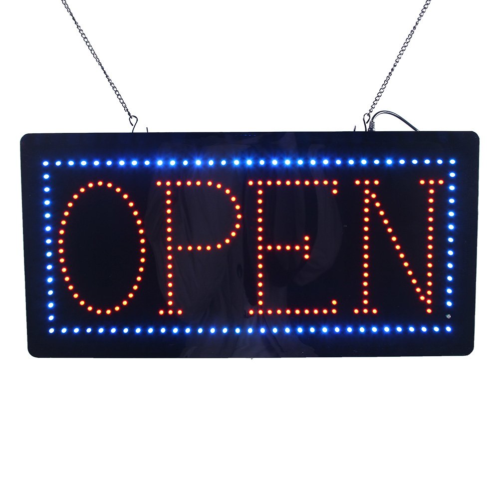 LED Neon Light Animated Motion Open Sign for Beauty Salon Hair Nails Spa Massage Barber Shop Store Super Bright and 24 x 12 inches