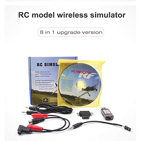 FPV Racer Simulator with Dongle Cable for Flysky Esky Radiolink Futaba Remote Co