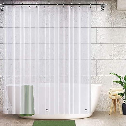 PEVA Shower Curtain Liner Waterproof Mildew Resistant Bathroom Standard Size