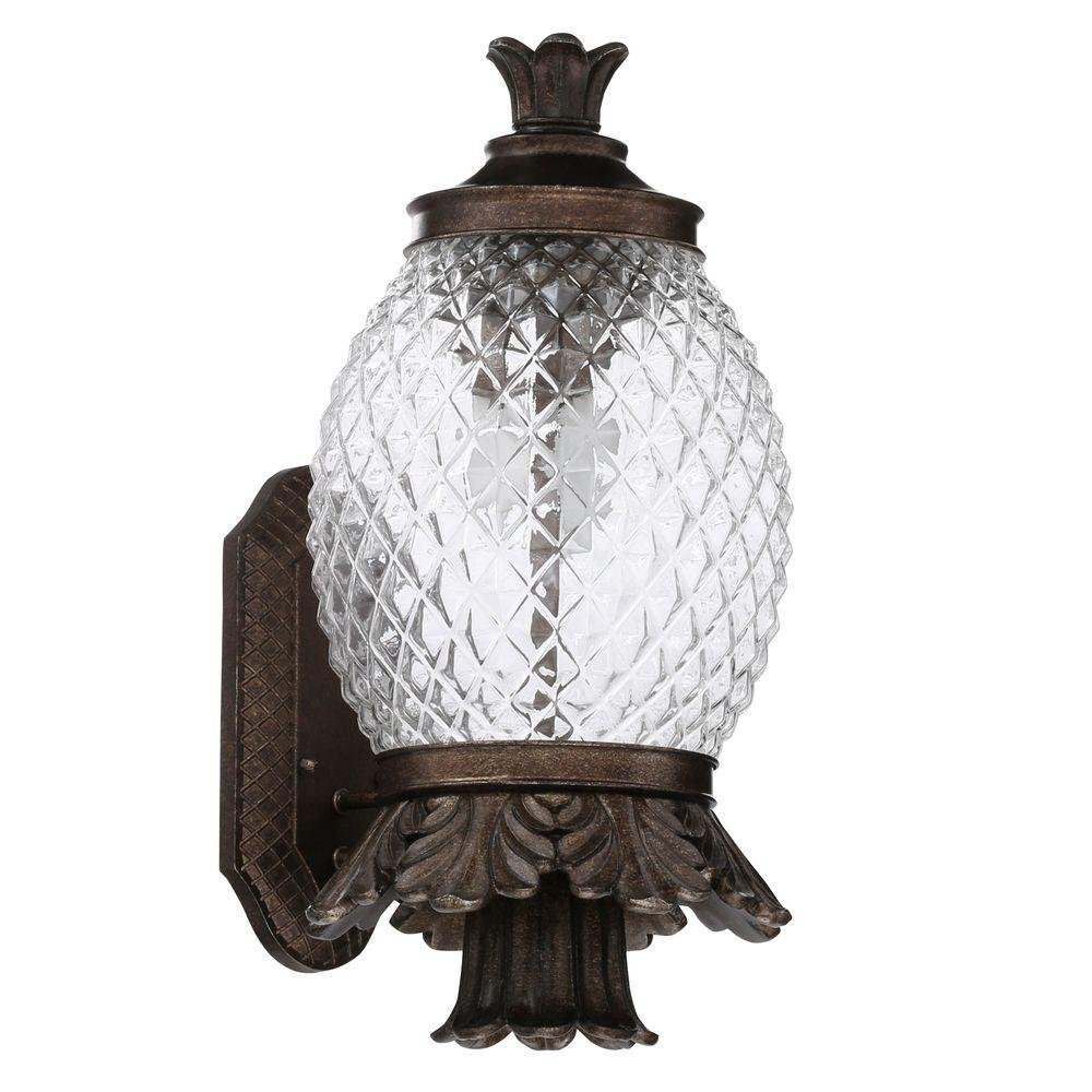 Monteaux lighting wall mount 21 in outdoor bronze pineapple coach