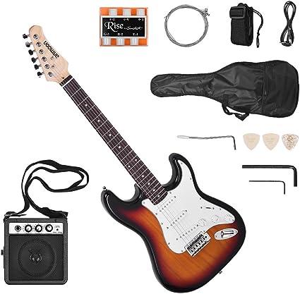 Ammoon ammoon guitarra eléctrica sólido madera de Paulownia cuerpo ...