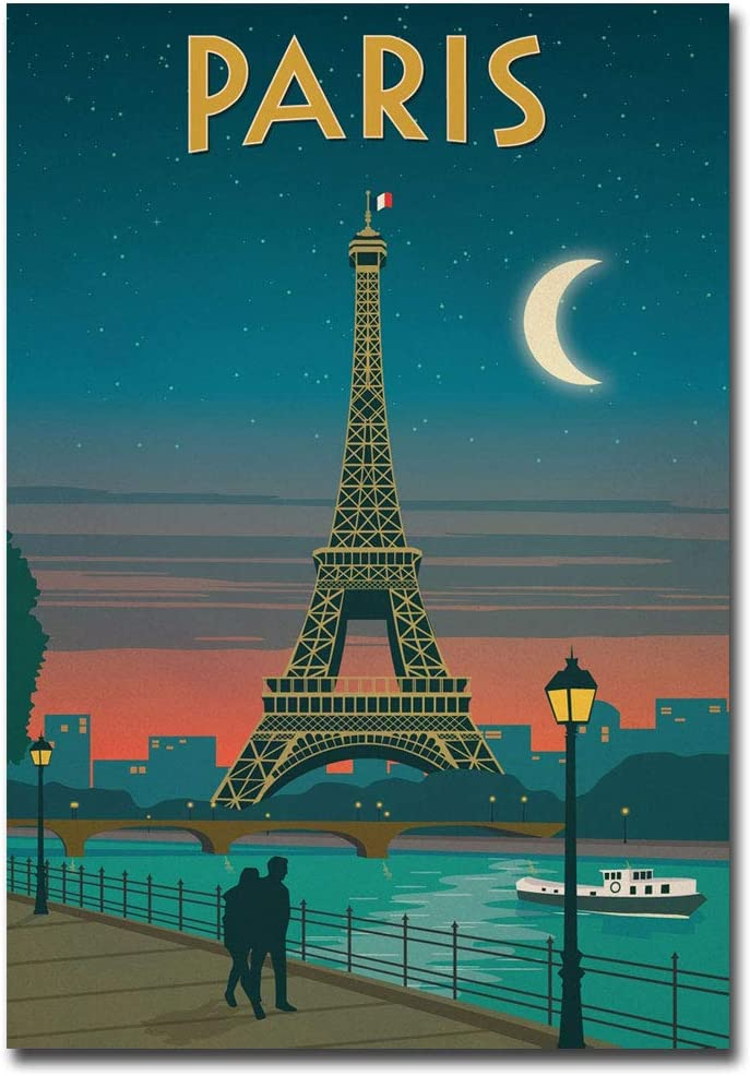 "Paris Travel Vintage Art Refrigerator Magnet Size 2.5"" x 3.5"""