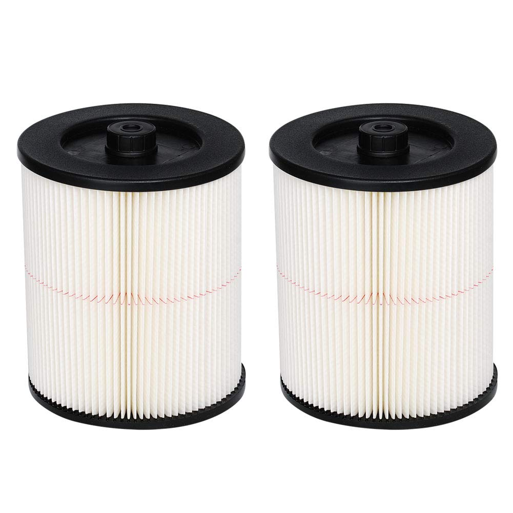 HIFROM Replacement Filter Fit for Shop Vac Craftsman 9-17816 917816 17816 Wet Dry Vacuum Air Cartridge Filter for 5 6 Gallon Vacuum Cleaner (2 Pcs) by HIFROM