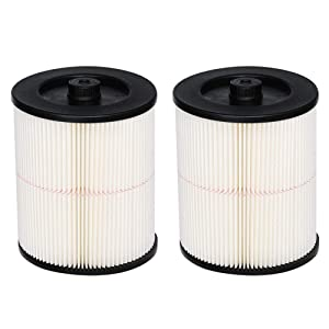 HIFROM Replacement Filter Fit for Shop Vac Craftsman 9-17816 917816 17816 Wet Dry Vacuum Air Cartridge Filter for 5 6 Gallon Vacuum Cleaner (2 Pcs)