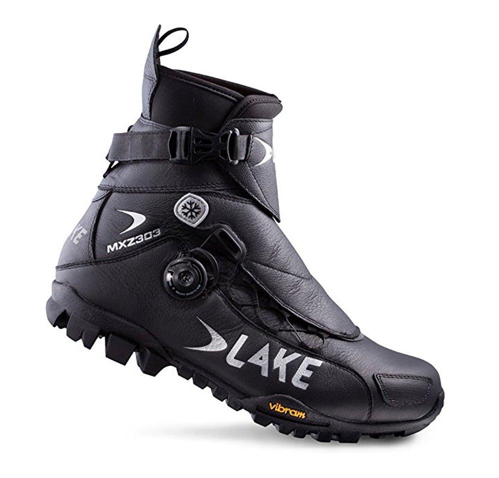 Lake MXZ303 Winter Cycling Boot - Wide - Mens Black, 44.0/Wide