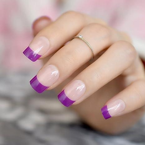 EchiQ - Pegatinas de uñas postizas francesas, acrílicas, color ...