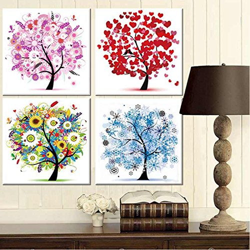 Hot Home 5D DIY Diamond Painting Spring Summer Autumn Winter Pasting Cross Stitch Embroidery Needlework Wall Decor