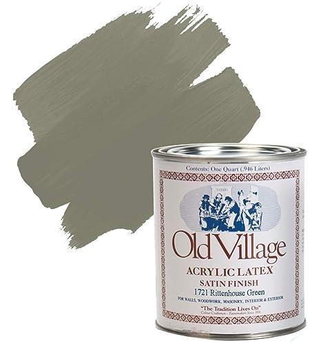 Acrylic Vs Latex Paint >> Old Village 1721qt Acrylic Latex Paint 1 Qt Rittenhouse