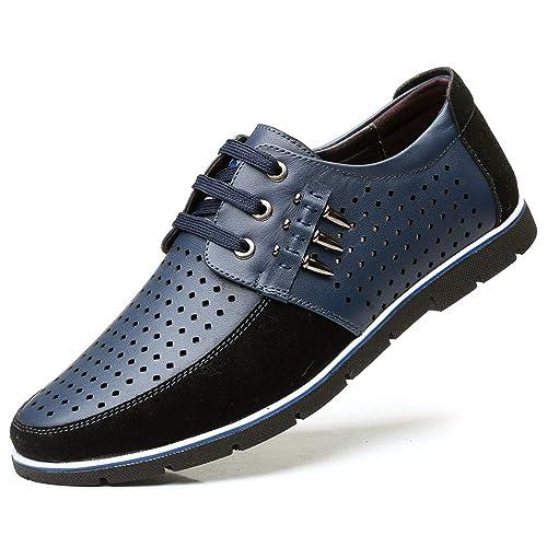magasin officiel remise chaude vente officielle Chaussures Homme Lacets Respirant Été Chaussures Ville à Lacet Cuir Derby  Casual Mode Oxford Marron Noir Bleu Kaki Taille 38-48 EU