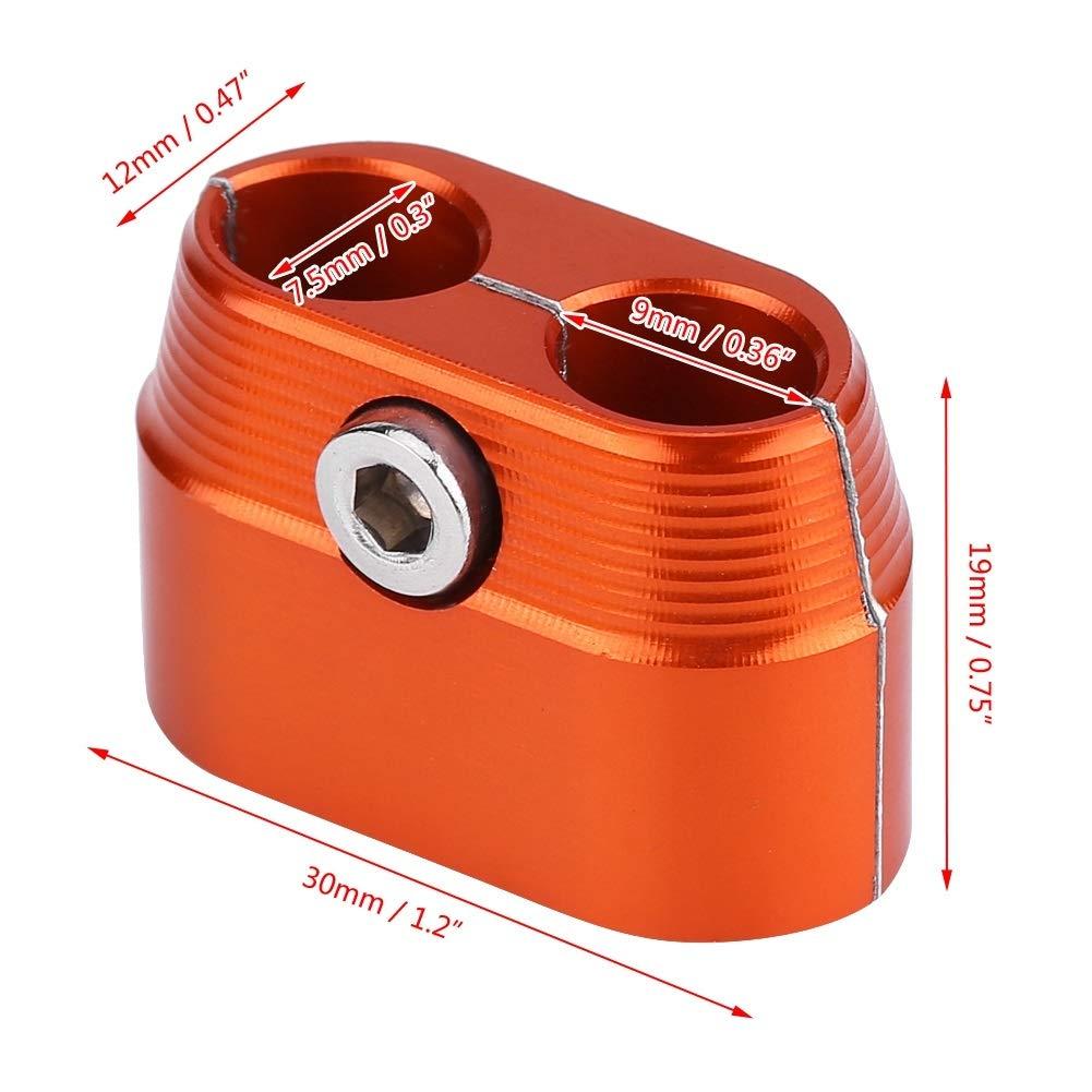 Dibiao Protector de aluminio de la cubierta del protector del separador de la abrazadera del cable del acelerador para KTM 4 Stroke SX XC XC-W
