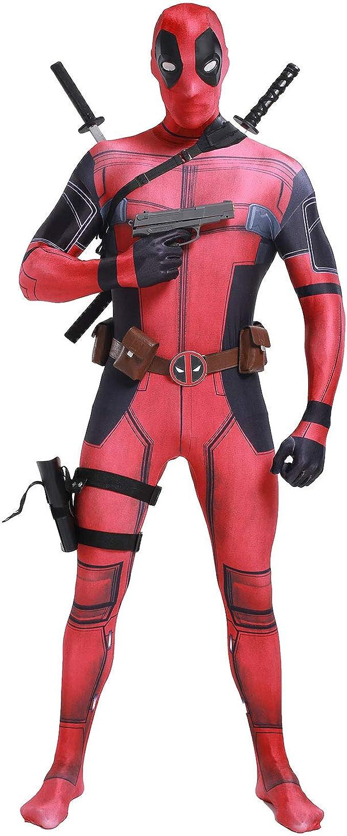 Disfraz de Hombre Deadpool para Cosplay, Disfraz de Halloween ...