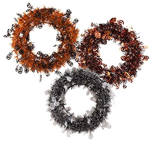 Halloween House Halloween Wreath Assorted Designs - 3 (Last Minute Diy Halloween Costumes)