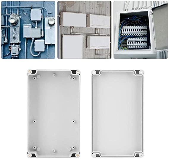 Plastic Enclosure MASO 175 175 100 IP65 ABS White Weatherproof Outdoor//External Enclosure Power Junction Box Complete with Connector