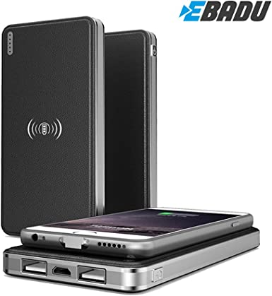 ebadu Qi carga 8000 mAh: Wireless cargador, Charger y Power Banco ...