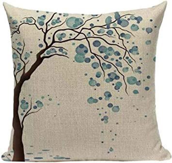 Amazon Com Lyn Cotton Linen Square Throw Pillow Case Decorative Cushion Cover Pillowcase For Sofa 18 X 18 Lyn 82 7 Home Kitchen