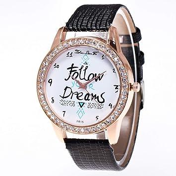 Zhou Lianfa Zalora Ebay.Reloj para Mujer F-615 Correa De Cocodrilo,Negro,Un tamaño: Amazon.es: Deportes y aire libre