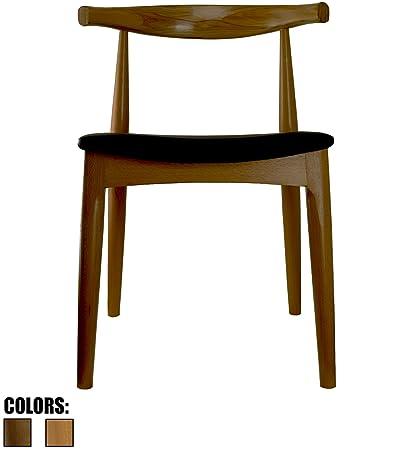 Amazoncom 2xhome Walnut Dark Wood Pu Leather Cushion Seat Elbow
