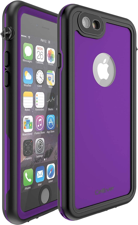 CellEver iPhone 6 / 6s Waterproof Case Shockproof IP68 Certified SandProof Snowproof Full Body Protective Cover Fits Apple iPhone 6 / iPhone 6s (4.7 Inch) KZ C-Purple