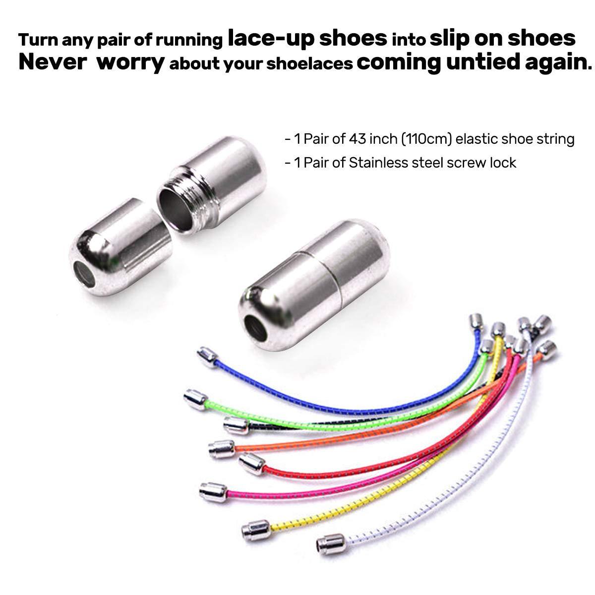 Siaomo - Cordones elásticos Redondos Reflectantes para Zapatos ...