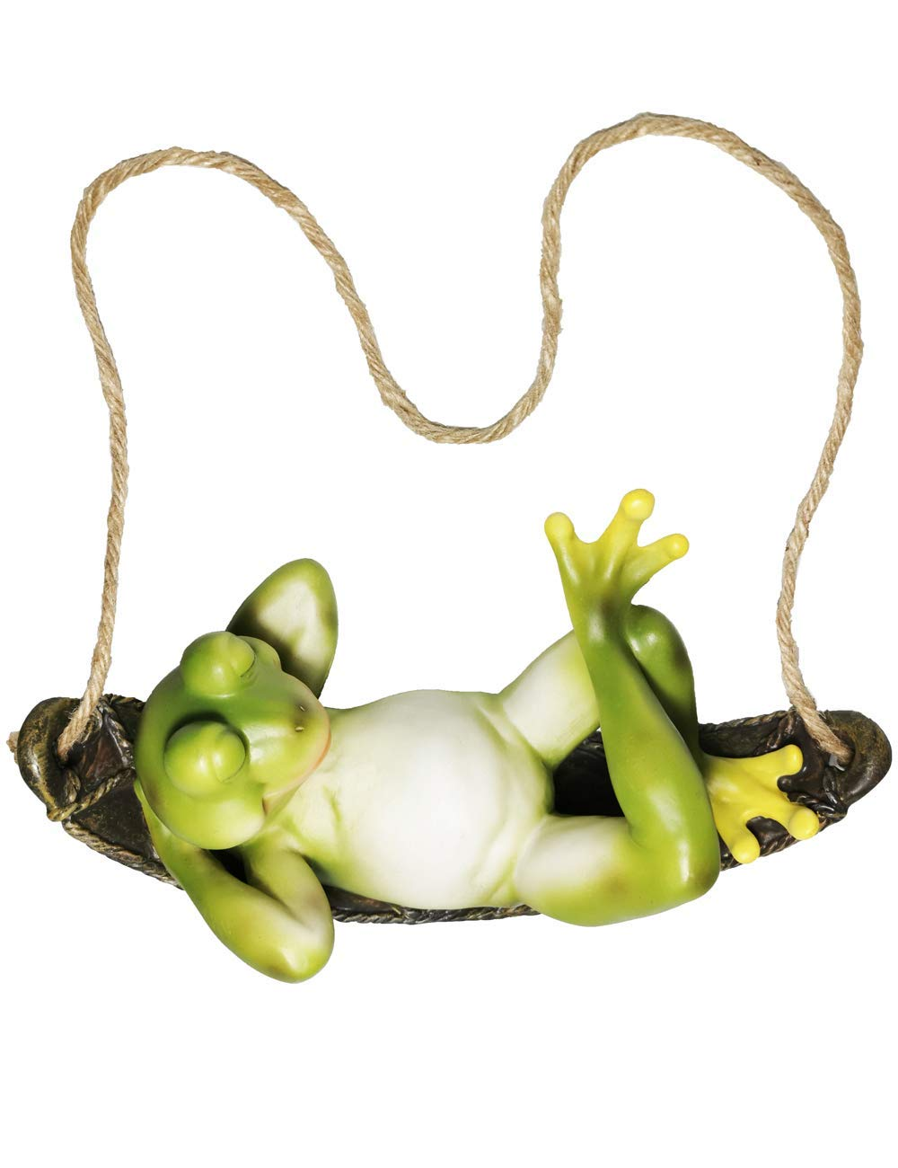 Muse Design Hanging Green Frog 10 Inch Garden Statues Yard Art Resin Decorations Outdoor Garden Decor