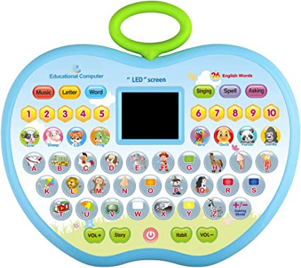 Amazon Com Kidtoy Toy Gifts For 2 Year Olds Girl Learning Toys For 1 3 Year Olds Boys Girls Kids Tablet Toys For 2 Year Old Boy Toddler Computer Toy For 3 6 Kid Girls