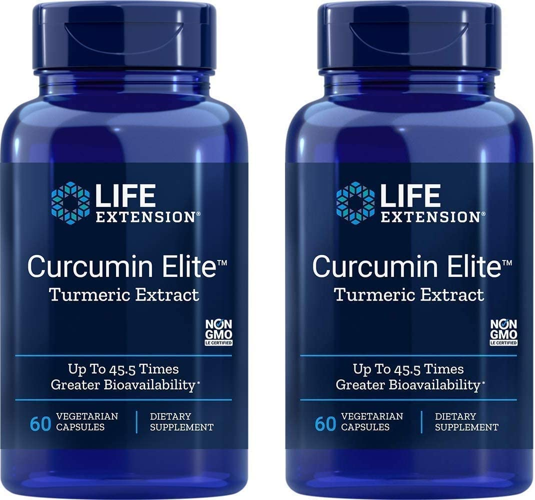 Life Extension Bio-Curcumin Elite 400 mg 60 Vegetarian Capsules 2 Pack