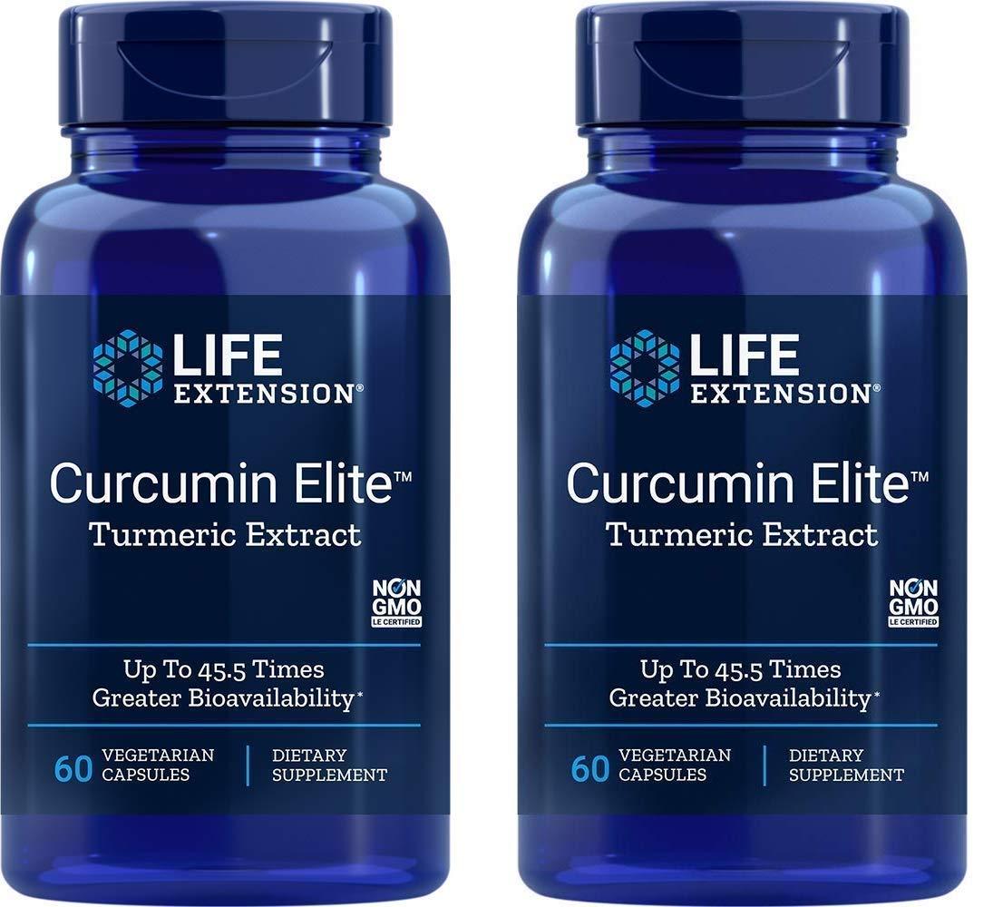 Life Extension Bio-Curcumin Elite 400 mg 60 Vegetarian Capsules (2 Pack)
