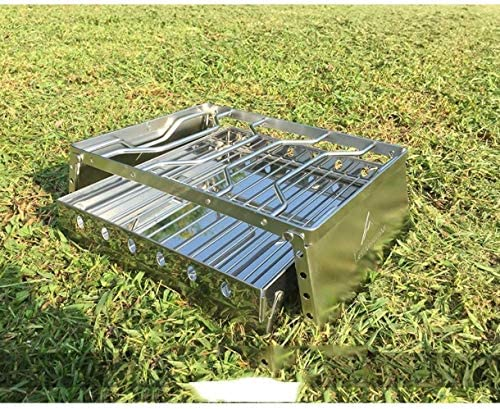 Barbecue HZY Mini Grill, Acier Inoxydable Charbon Camping en Plein air Outils Taille 31.5x29x19 cm