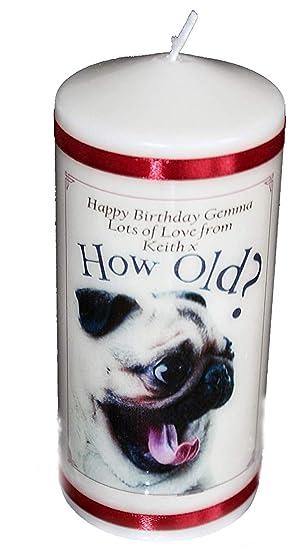Cellini Candles Mops Hund Wie Alt Geburtstag Kerze Geschenk Ein 15 2