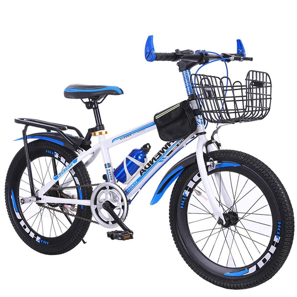 海外最新 CHS@ 子供用自転車20/22インチ8-9-10-11-12-13-14歳のベビーキャリーボーイの生徒Kike 子ども用自転車 (色 : 青, : B07PZM2YNZ サイズ さいず さいず : 22
