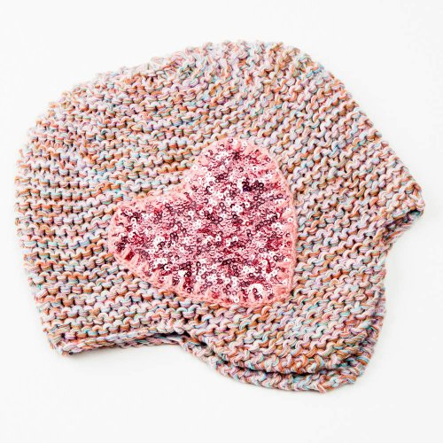 Peppercorn Kids Sequin Heart Beanie