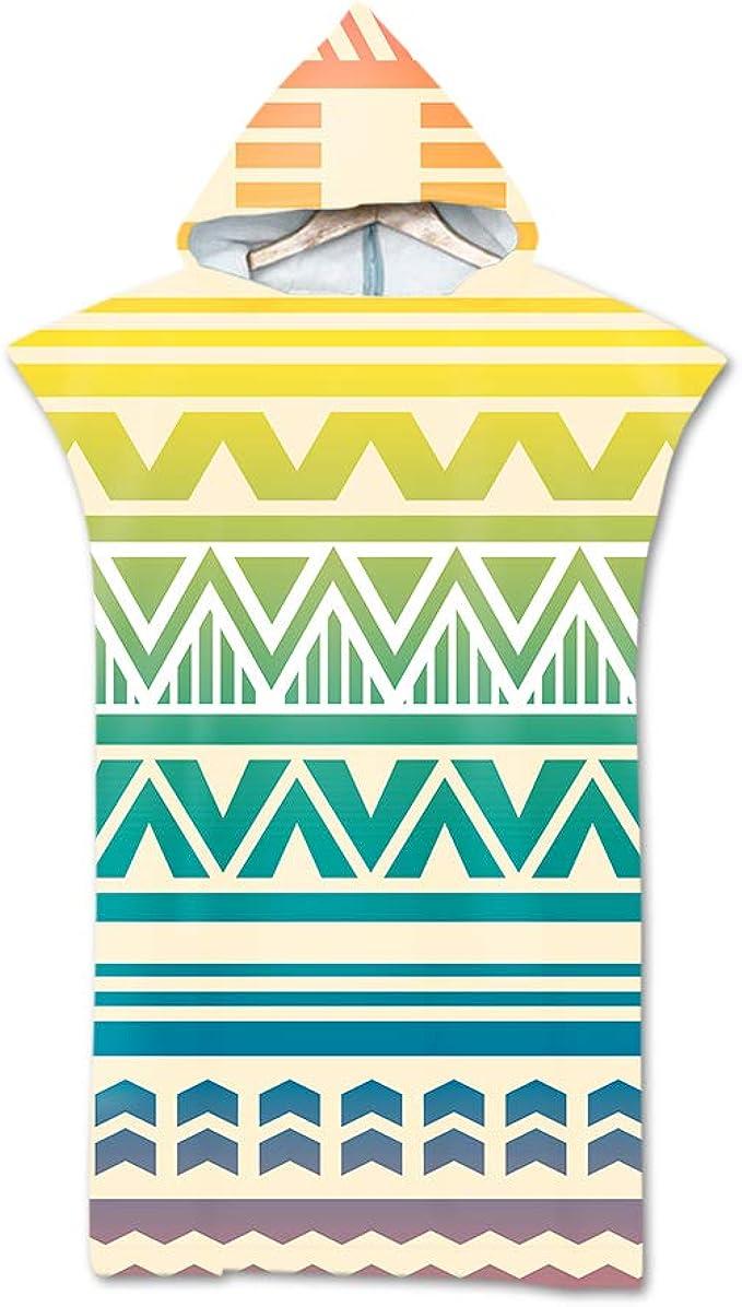 Surwin Badeponcho Strandtuch Herren Damen Surfen Wechseln Handtuch Poncho Mit Kapuze kompakt und sehr leicht Robe Bademantel Surfponcho f/ür Strand Schwimmen