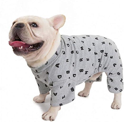 RTEAQ Ropa Mascotas Pijama de algodón para Perros Mono Pug ...