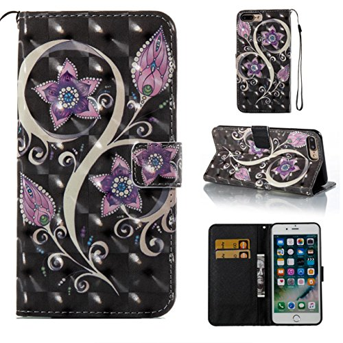 Camera Case Plum (iPhone 7 Plus Case,iPhone 8 Plus Case,Lightweight Kickstand PU Leather Wallet Case Book Cover with Credit Card Slot Xmas Birthday Gift for Daughter Girlfriend Boyfriend for Apple iPhone 7 Plus-Purple)