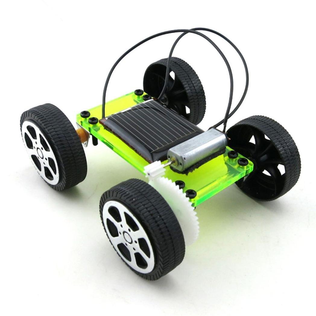 DIY Car  Hometom Mini Solar Powered DIY Car Set Kits Children Educational Gadget Hobby Toy (Green)