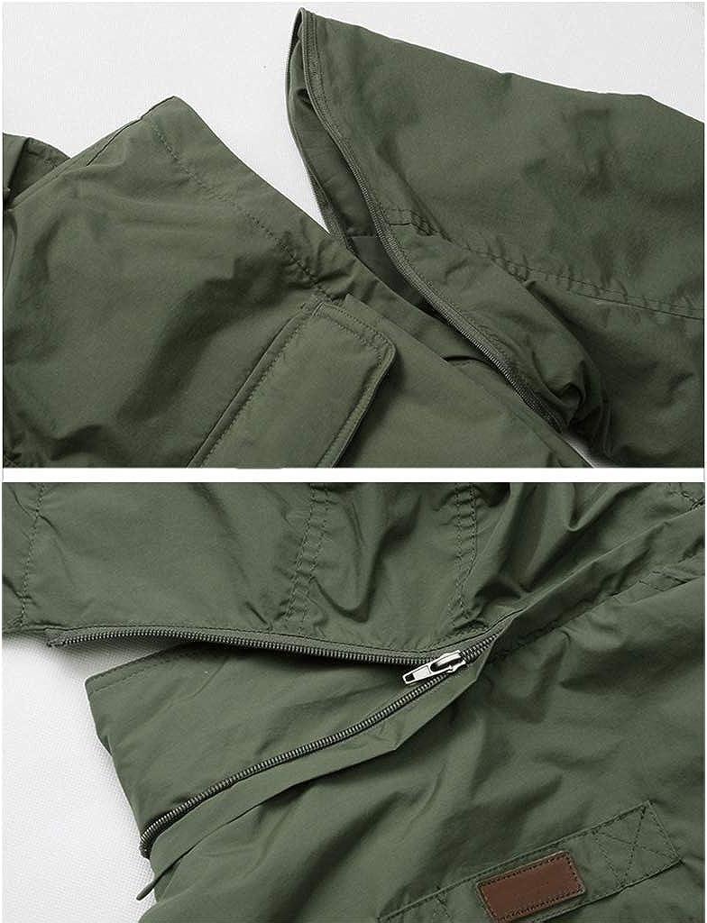 Multi Pockets Angeln Weste,Outdoor Wasserdicht Jacke Abnehmbare /Ärmel Und Hut Netz Atmungsaktivit/ät Schnell Trocknend Vest