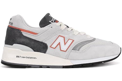 separation shoes c5e5f 57f57 New Balance M997, CSEA Grey/Orange, 7: Amazon.co.uk: Shoes ...