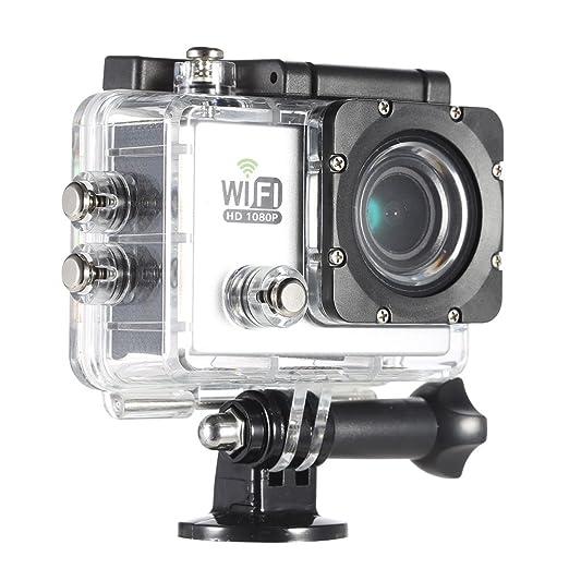 "8 opinioni per Andoer® WIFI 2.0 ""LCD 12MP Full HD Sport Azione DV Cam 1080P 30FPS 4X Zoom 140"