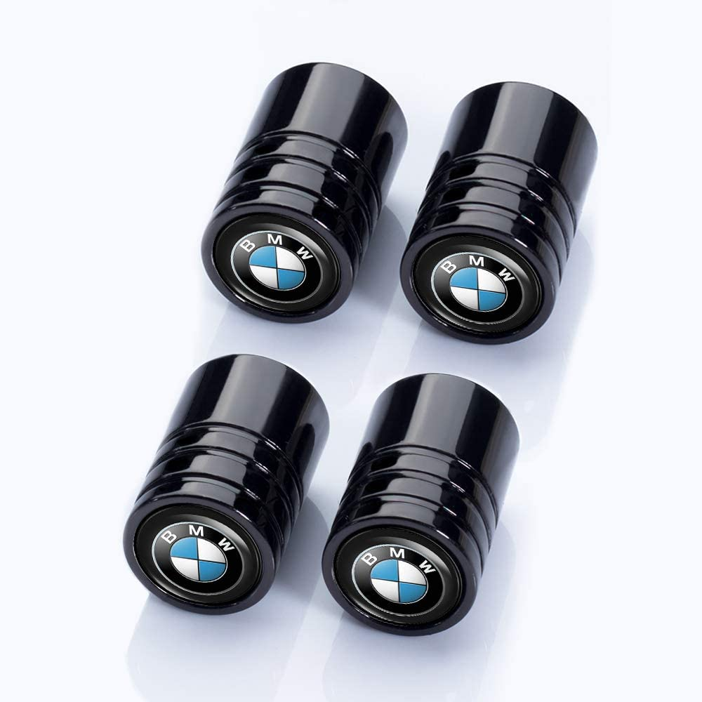 Jazzshion 4 Pcs Metal Car Wheel Tire Valve Stem Caps for BMW X1 X3 M3 M5 X1 X5 X6 Z4 3 5 7Series Logo Styling Decoration Accessories