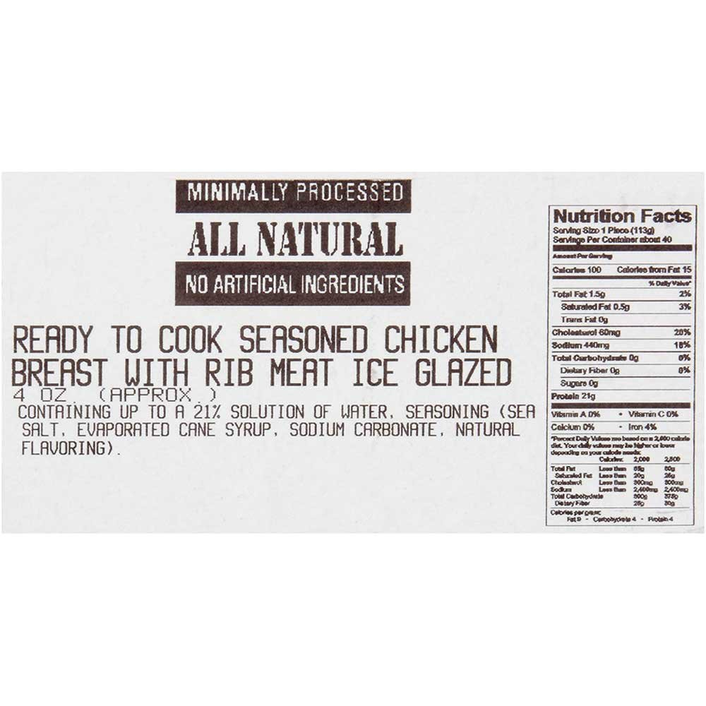 Dutch Quality House Natural Ready to Cook Chicken Breast Fillets, 4 Ounce - 1 each.