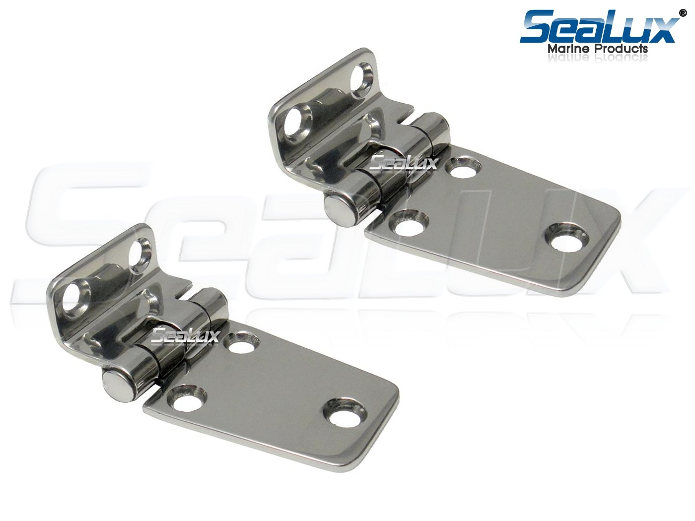 SeaLux Marine Stainless Steel Offset Short Side 2-5/8'' x 1-1/2'' Hinges (Pair)