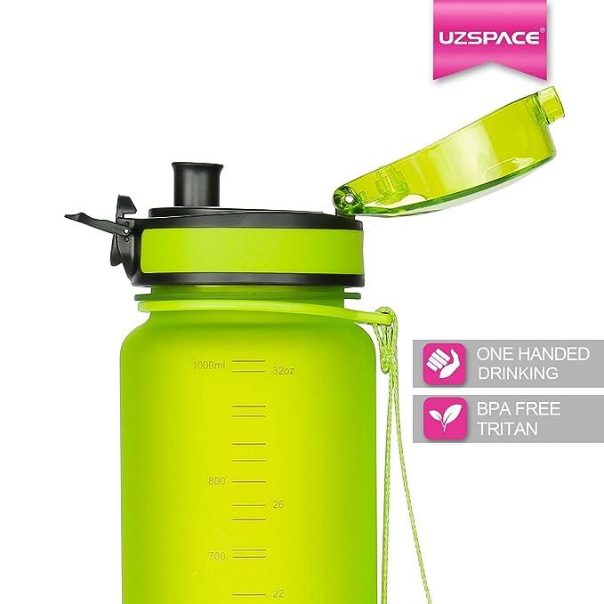 ... ml grande Flip Top tapa a prueba de fugas con un solo clic abierto - ecológica y no Tóxico Sin BPA Tritan co-polyester plástico: Amazon.es: Deportes y ...