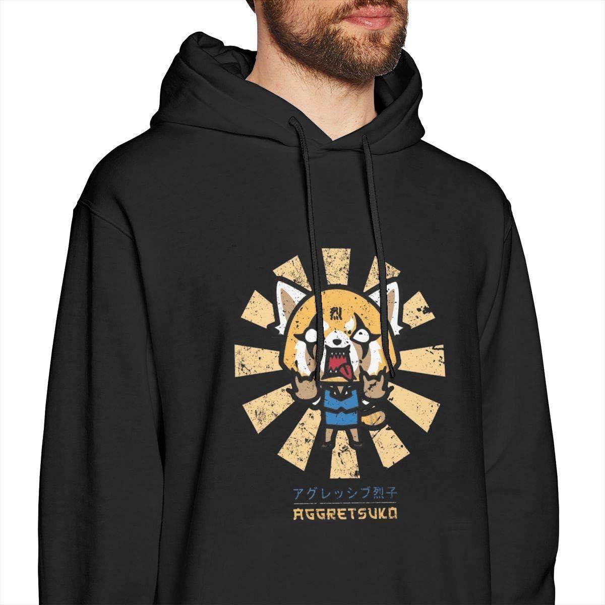 xinfub Charizard Retro Japanische Herren Pullover Hoodies Rundhals-Sweatshirt mit Rundhalsausschnitt Schwarz Medium|style6