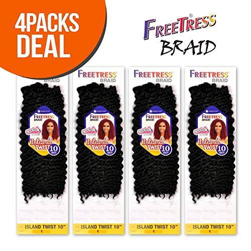 FreeTress Synthetic Hair Crochet Braids Island Twist 10