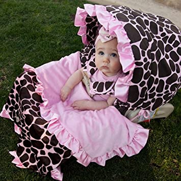 Amazon.com: Baby Bella Maya Ginny Giraffe Car Seat Cover & Blanket