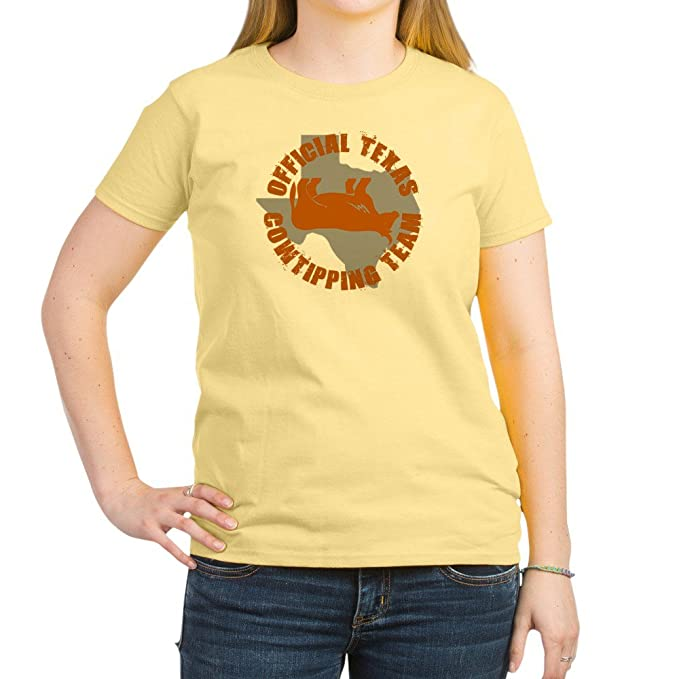 edb11bd1d Image Unavailable. Image not available for. Color: CafePress - FUNNY TEXAS  SHIRT COW TIPPING Women's ...