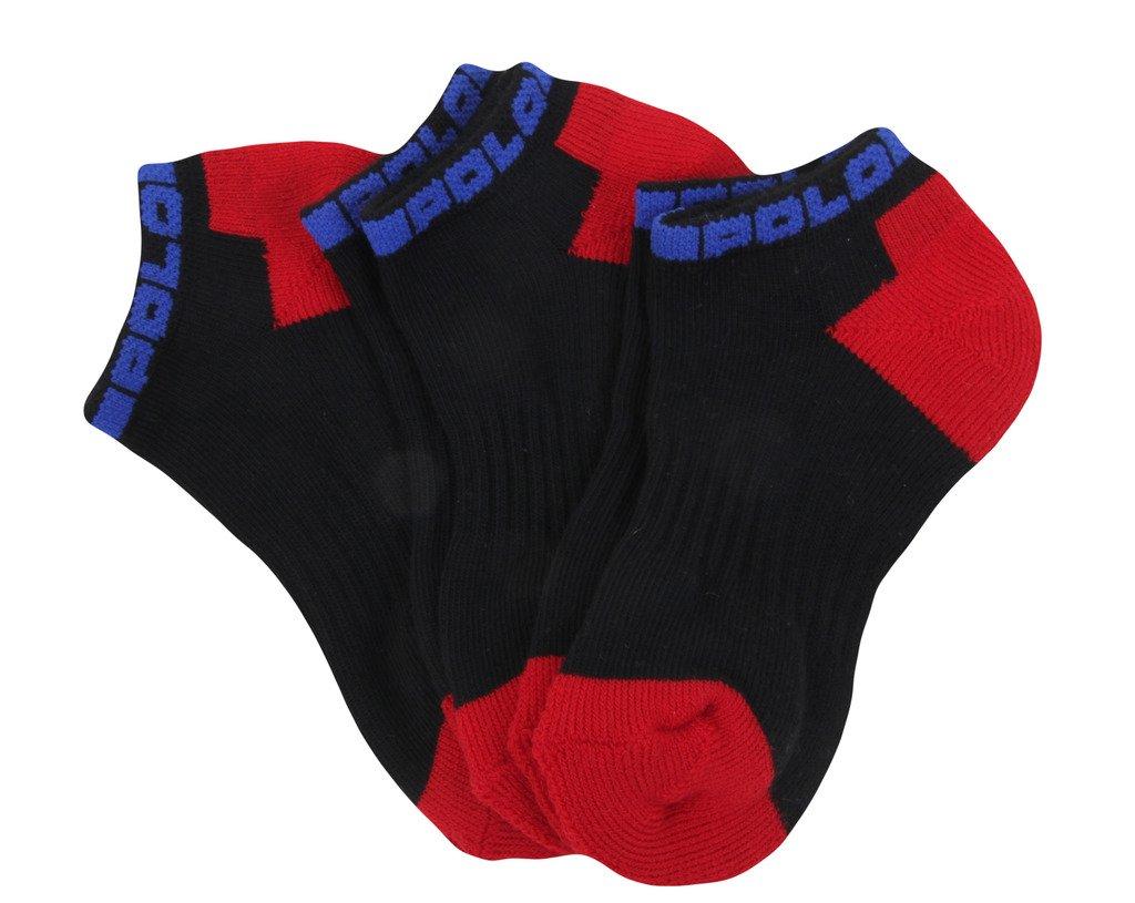 Polo Ralph Lauren Boys 3 Pack short Sport Socks black 8-9