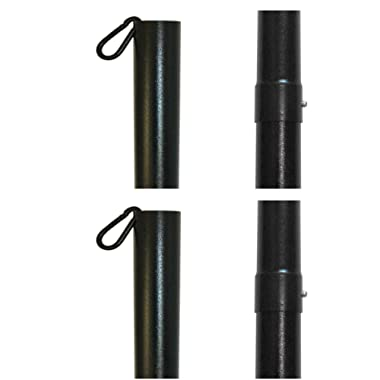 IYN Stands Outdoor String Light Pole Stand, 9.6 Feet Tall, Durable Powder Coated Steel, Weather Resistant - Black 2 Pack
